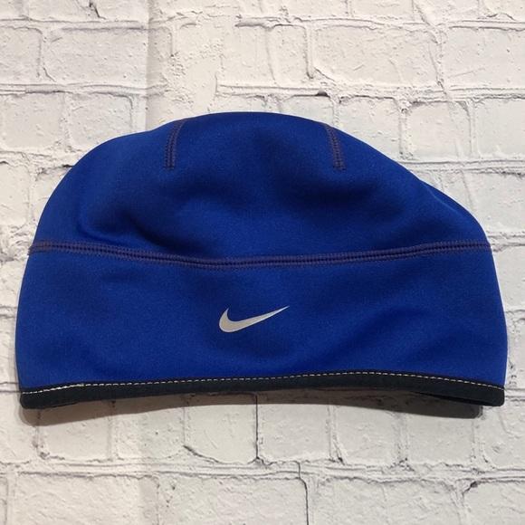 EUC Nike Men's Therma-Fit Hat Blue & Black